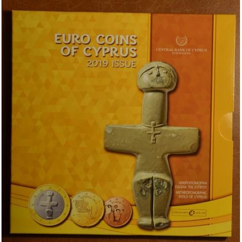 Set of 8 eurocoins Cyprus 2019 (BU)