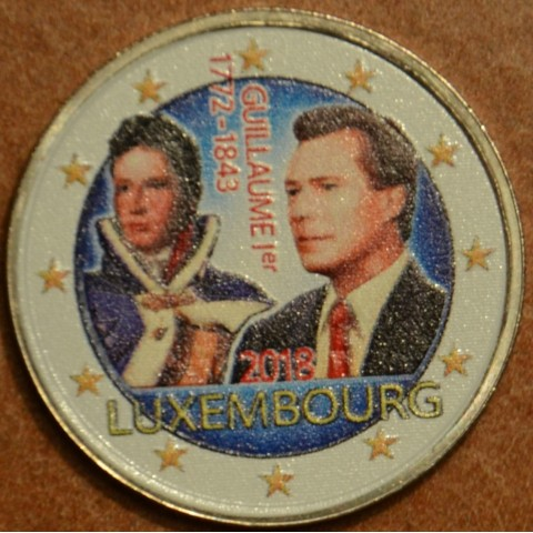 2 Euro Luxembourg 2018 - The 175th anniversary of the death of the Grand Duke Guillaume I. v II. (colored UNC)