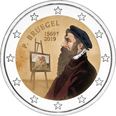 2 Euro Belgium 2019 -  Pieter Bruegel II. (colored UNC)