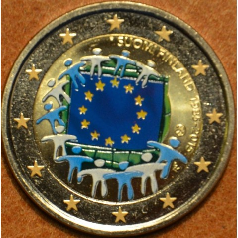 2 Euro Finland 2015 - 30 years of European flag (colored UNC)