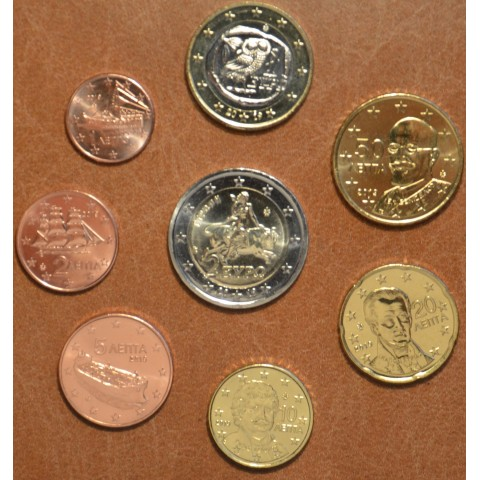 Set of 8 eurocoins Greece 2019 (UNC)