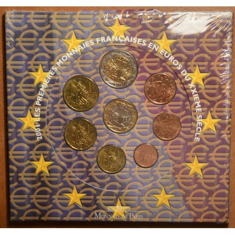 Official set of 8 French coins 2001 (BU)