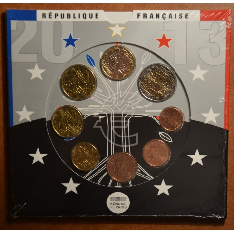 Set of 8 eurocoins France 2013 (UNC)
