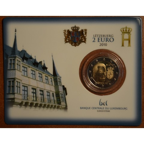 2 Euro Luxembourg 2010 - Coat of arms of the Grand Duke  (BU)