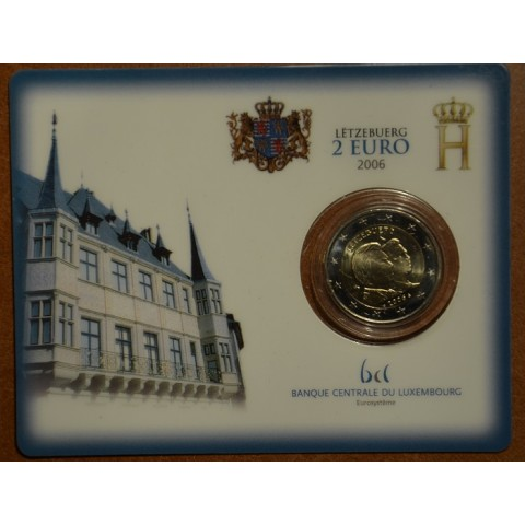 2 Euro Luxembourg 2006 - 25th Birthday of Hereditary Grand Duke Guillaume (BU card)