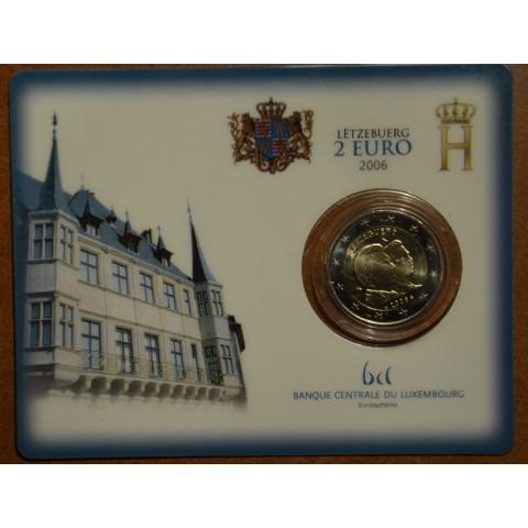 2 Euro Luxembourg 2006 - 25th Birthday of Hereditary Grand Duke Guillaume (BU card)