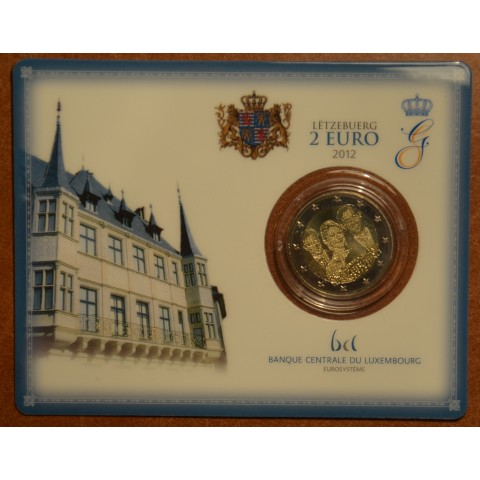 2 Euro Luxembourg 2012 - Royal Wedding  (BU card)