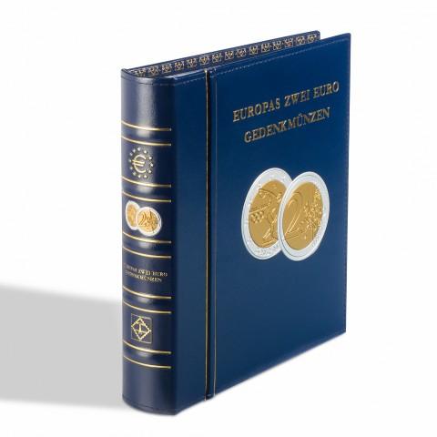 "Leuchtturm OPTIMA ""European 2-Euro commermomative coins, incl. slipcase, blue"