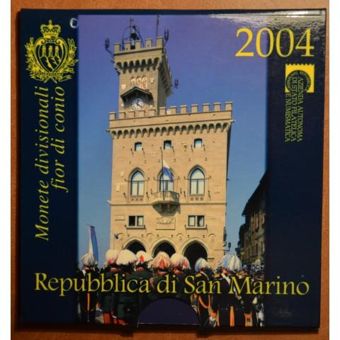 Set of 9 eurocoins San Marino 2004 (BU)