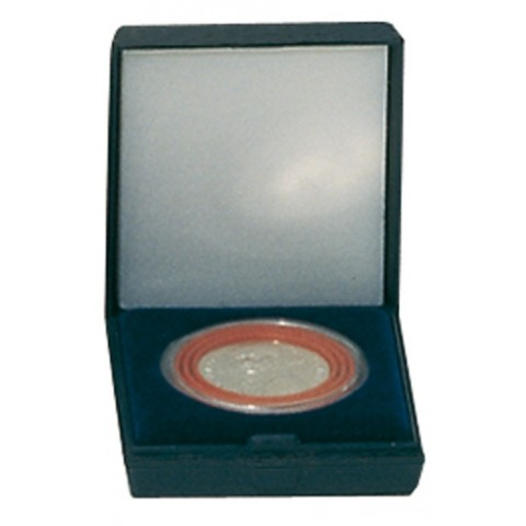 Lindner dark blue plastic coin box for one coin