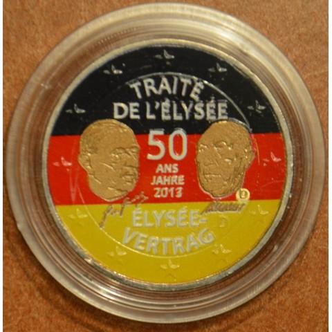 "2 Euro Germany ""A"" 2013 - 50 Years of the Élysée Treaty III. (colored UNC)"