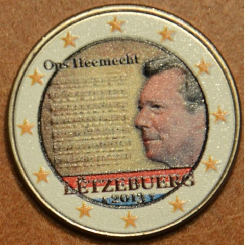 2 Euro Luxembourg 2013 - National Anthem VI. (colored UNC)