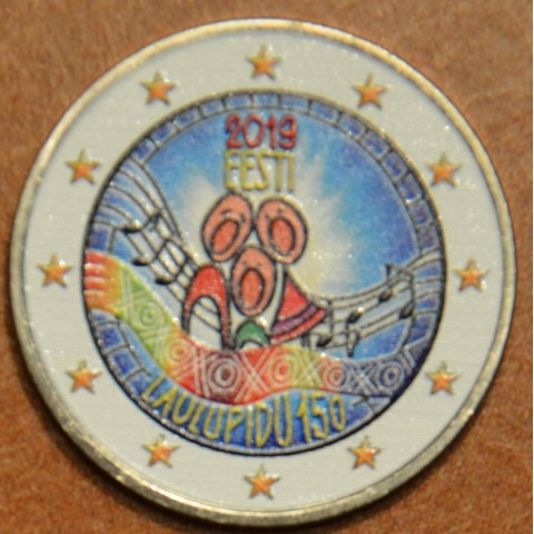 2 Euro Estonia 2019 - Estonian song festival (colored UNC)