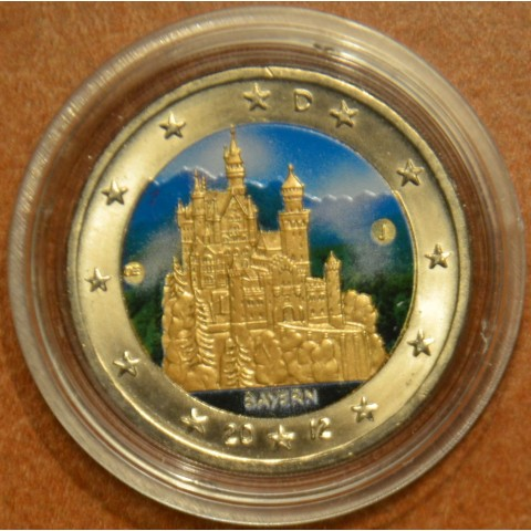 "2 Euro Germany ""J"" 2012 - Bayern: Neuschwanstein V.  (colored UNC)"