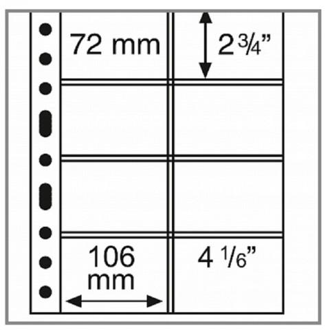 Leuchtturm GRANDE sheets for 106x72 mm cards