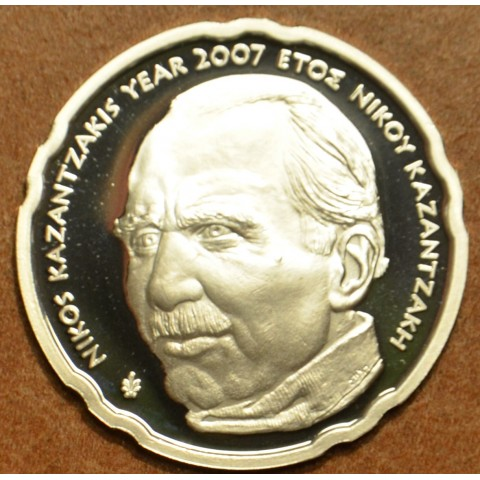 10 Euro Ag Greece 2007 Nikos Kazantzakis  (Proof)