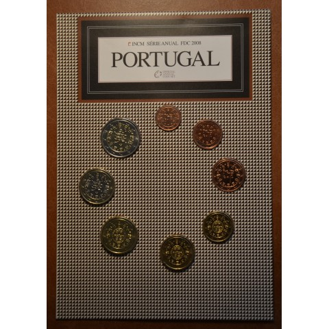 Set of 8 coins Portugal 2008 (UNC)