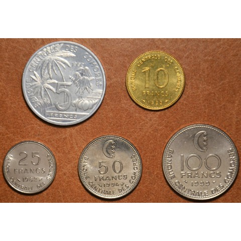 Union of the Comoros 5 coins 1982-1999 (UNC)