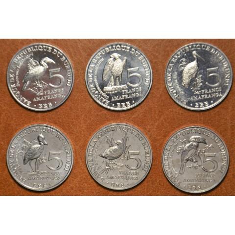 Burundi 6x 5 Francs 2014 (UNC)