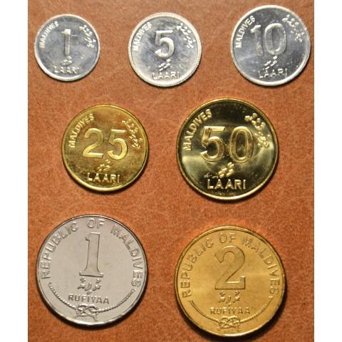 Maldives 7 coins 2007-2012 (UNC)