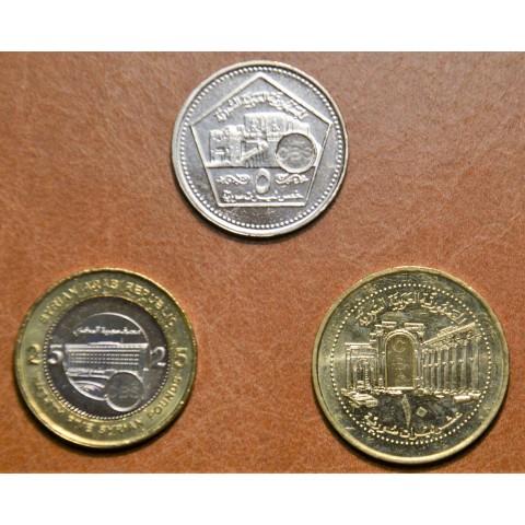 Syria 3 coins 2003 (UNC)