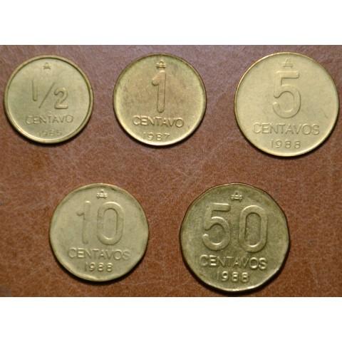 Argentina 5 coins 1985-1988 (UNC)
