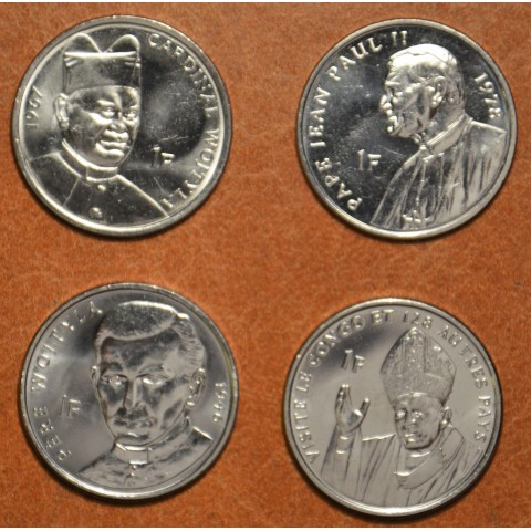 Congo 4x 1 Franc 2004 (UNC)