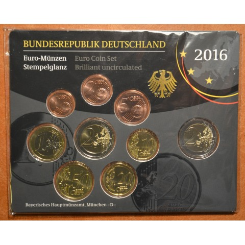 "Set of 9 coins Germany 2016 ""D"" (BU)"