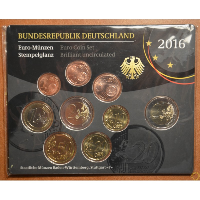 "Set of 9 coins Germany 2016 ""F"" (BU)"