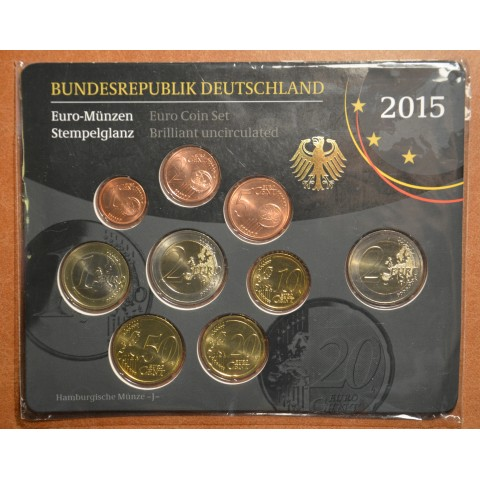 "Set of 9 coins Germany 2015 ""J"" (UNC)"
