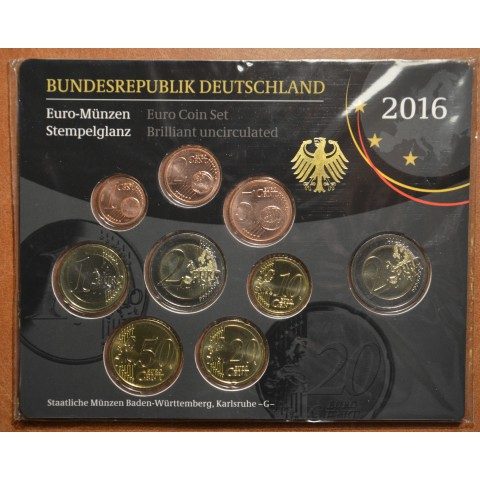 "Set of 9 coins Germany 2016 ""G"" (BU)"