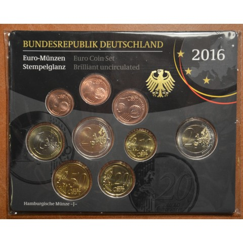 "Set of 9 coins Germany 2016 ""J"" (BU)"