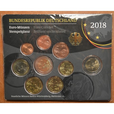 "Set of 9 coins Germany 2018 ""G"" (UNC)"