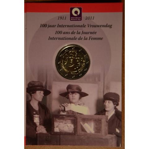 2 Euro Belgium 2011 - 100th anniversary of International Women's Day (BU card)