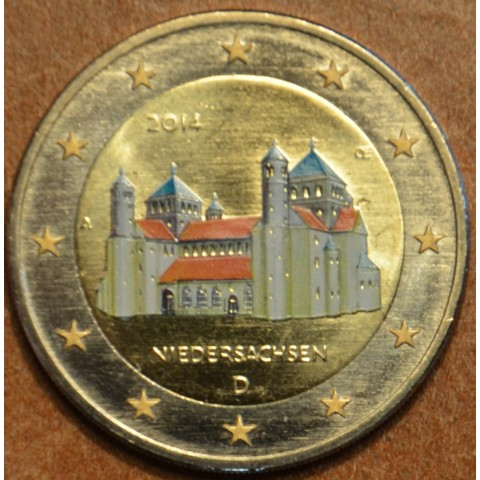"""2 Euro Germany """"A"""" 2014 - St. Michael church - Niedersachsen II. (colored UNC)"""