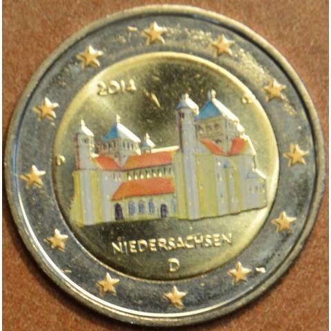 "2 Euro Germany ""D"" 2014 - St. Michael church - Niedersachsen II. (colored UNC)"