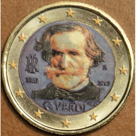 2 Euro Italy 2013 - 200th Anniversary of the Birth of Giuseppe Verdi III. (colored UNC)