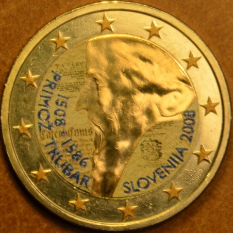 2 Euro Slovenia 2008 - 500th anniversary of Primož Trubar's birth (colored UNC)