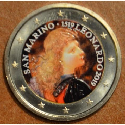 2 Euro San Marino 2019 - Leonardo da Vinci II. (colored UNC)