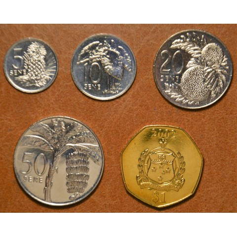 Samoa 5 coins 2002 (UNC)