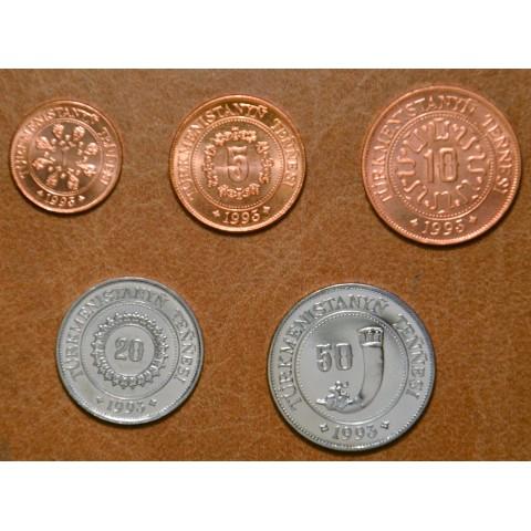 Turkmenistan 5 coins 1993 (UNC)