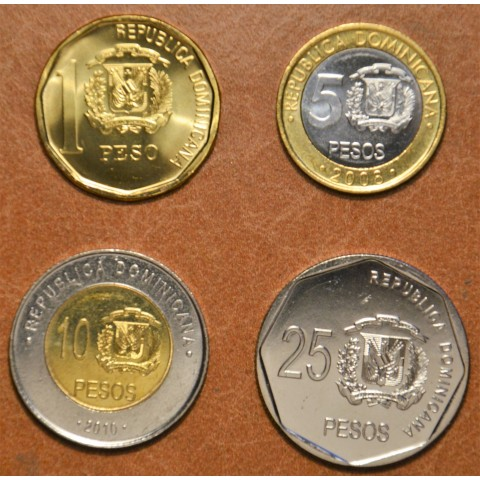 Dominican Republic 4 coins 2008-2010 (UNC)