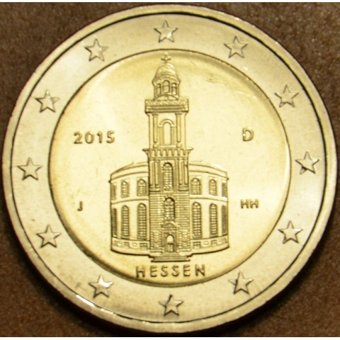 "2 Euro Germany ""F"" 2015 - Hessen: St. Paul church (UNC)"