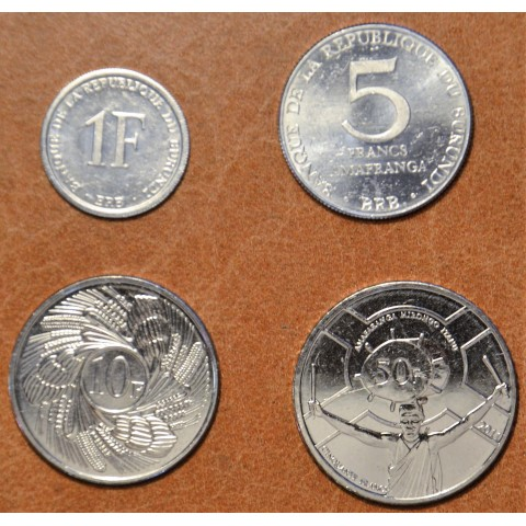 Burundi 4 coins 1980-2011 (UNC)