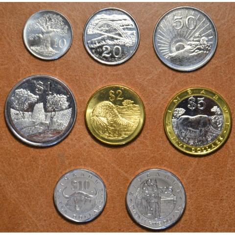 Zimbabwe 8 coins 2001-2003 (UNC)