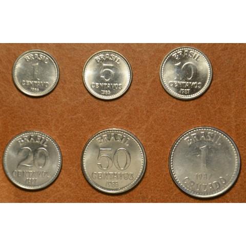 Brasil 6 coins 1986-1988 (UNC)