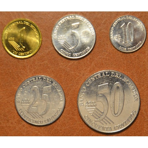 Equador 5 coins 2000 (UNC)