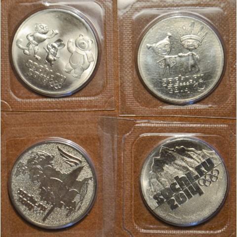 Russia 4x 25 Rubles Sochi (UNC)