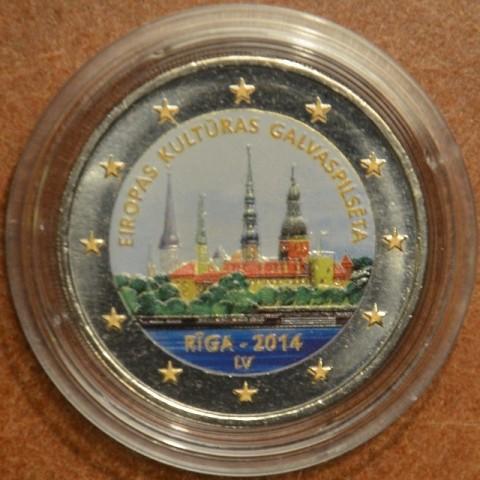 2 Euro Latvia 2014 - Riga European Capital of Culture (colored UNC)