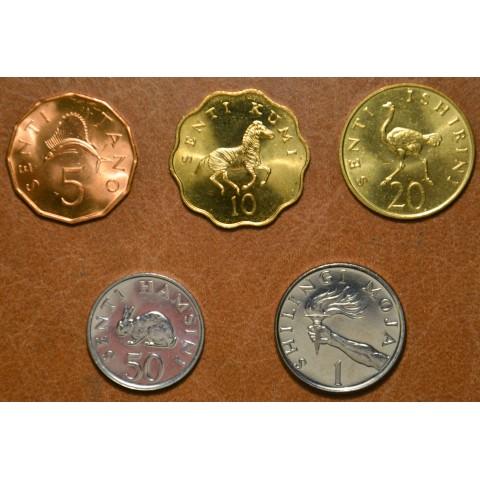 Tanzania 5 coins 1976-1992 (UNC)